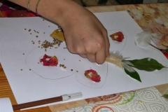 Disegnando con le foglie